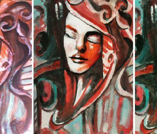 Wyższa Szkoła Artystyczna, malarstwo w scenografii, malarstwo, żywe obrazy, obraz, charakteryzacja, faceandbodypainting