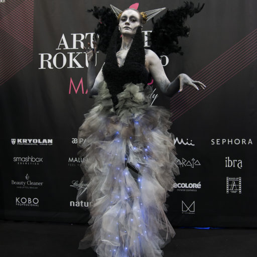 wyzszaszkolaartystyczna, makeup day, targi kosmetyczne, aniol, demon, charakteryzacja, kostium i rekwizyt sceniczny