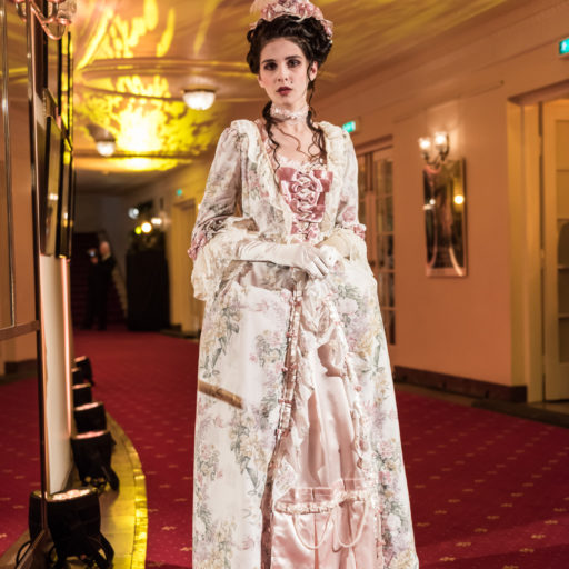 wyzsza szkola artystyczna, kostium, makeup, charakteryzacja, mozart, festiwal, suknia, barok, rokoko