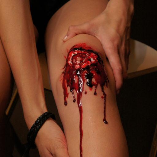 wyzsza szkola artystyczna, fx, efekty specjalne, rana, krew, trup, siniak, charakteryzacja, fx