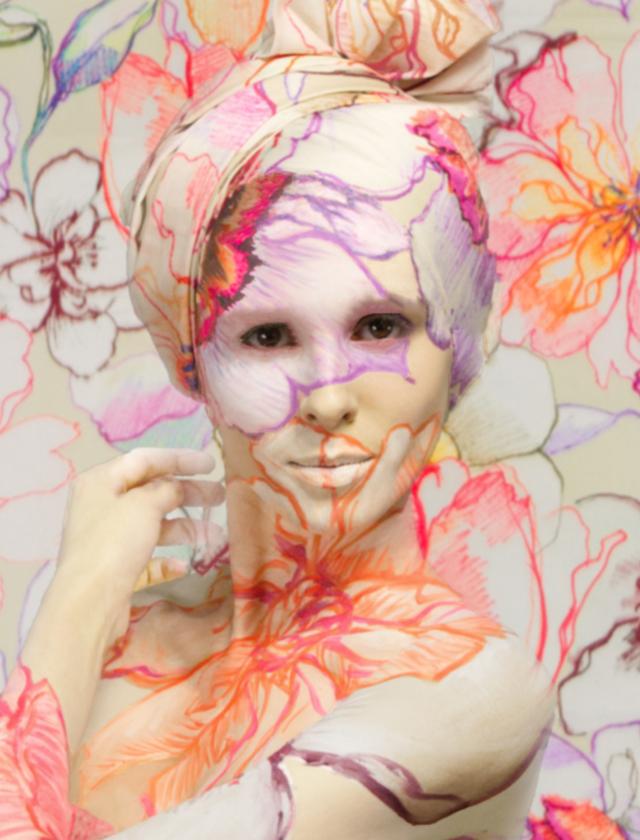 wyzsza szkola artystyczna, bodypainting, facepainting, malarstwo, materia
