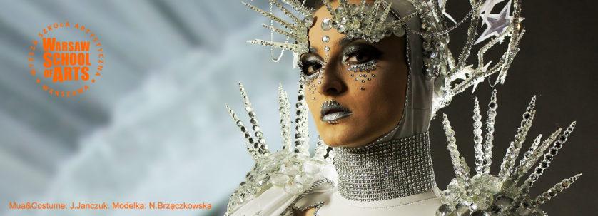 wyzszaszkolaartystyczna, kobieta, wenecja, kostium, moda, fashion, makijaz,