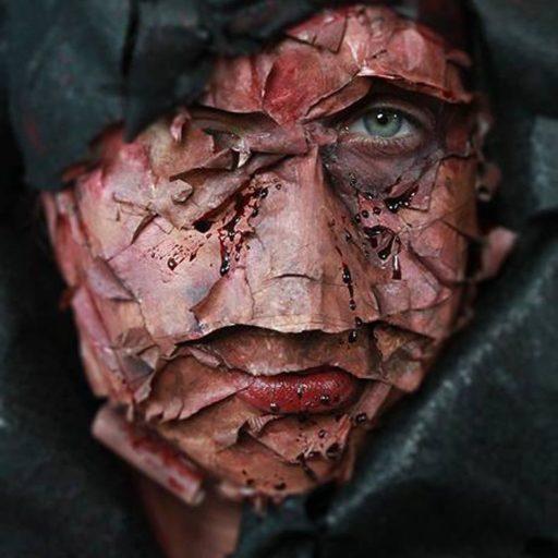 halloween, charakteryzacja, wyzsza szkola artystyczna, malarstwo w scenografii, kostium i rekwizyt sceniczny, krew, bodypainting, fx