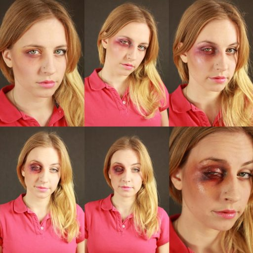 efekty specjalne sfx rany wykonane w wyższej szkole artystycznej