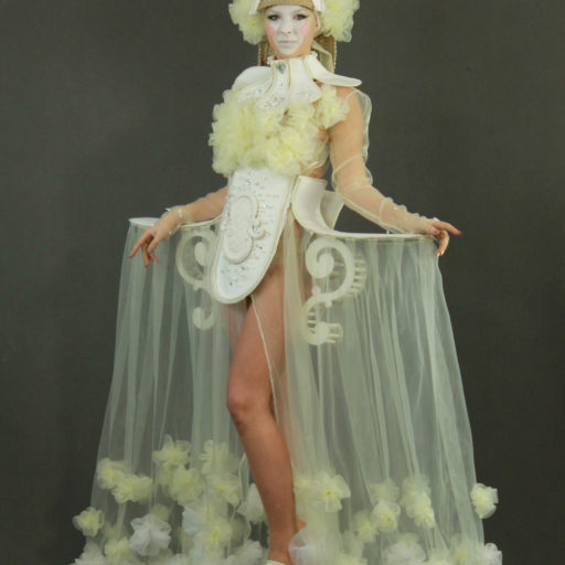wyzsza szakola artystyczna, rokoko, kostium, charakteryzacja, bodypainting, makijaz, makeup, peruka