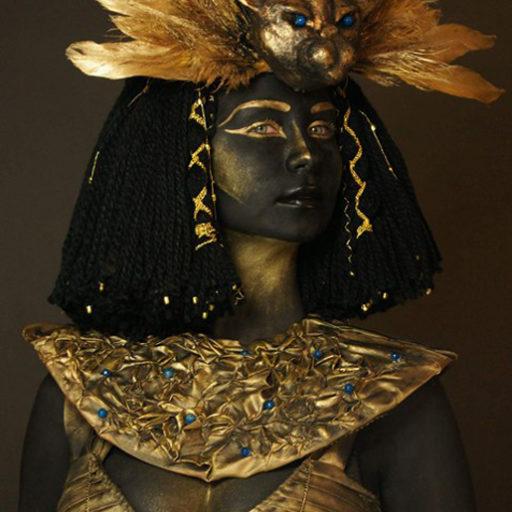wyzsza szkola artystyczna, charakteryzacja, kostium, bodypainting, egipt, orient, folklor,