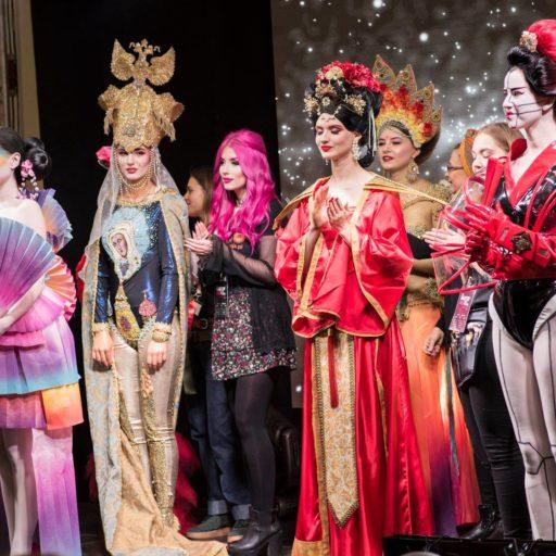 kostium, pokaz, charakteryzacja, kobieta, etno, japonia, chiny, egipt, polska, wyzsza szkola artystyczna