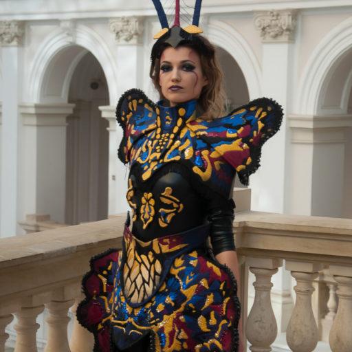 wyzszaszkolaartystyczna, charakteryzacja, kostium, bal, politechnika, sesja, krolowa, aniol, demon, bodypainting, makijaz, wizaz