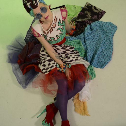 wyzszaszkolaartystyczna, recycling, kostium, przetwarzanie, makeup, wizaz