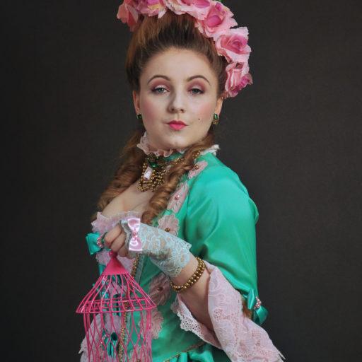 wyzszaszkolaartystyczna, kostium, barok, rokoko, epoka, charakteryzacja