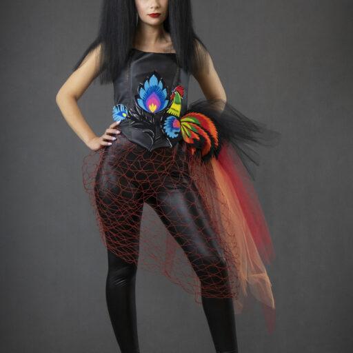 Kostium i charakteryzacja inspirowane sztuką ludową